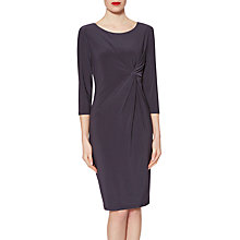 Buy Gina Bacconi Sally Jersey Knot Dress, Titanium Online at johnlewis.com