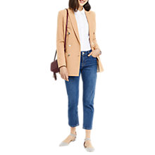 Buy Oasis Longline Blazer, Camel Online at johnlewis.com