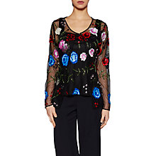 Buy Gina Bacconi Fleur Beaded Jacket, Black Online at johnlewis.com