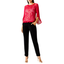 Buy Coast Tricia Lace Top, Red Online at johnlewis.com