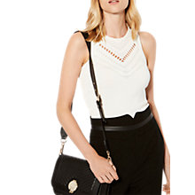 Buy Karen Millen The Essentials Open Knit Top, Ivory Online at johnlewis.com