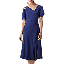Buy Finery Abbi Lace Detail Dress, Blue Online at johnlewis.com
