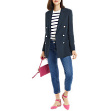 Buy Oasis Longline Blazer, Navy Online at johnlewis.com