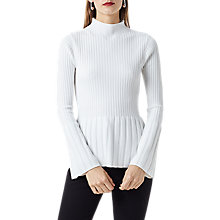 Buy Finery Bryce Ribbed Jumper, Ivory Online at johnlewis.com