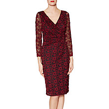 Buy Gina Bacconi Lydia Floral Lace Dress, Wine Online at johnlewis.com