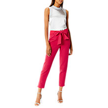 Buy Coast Imaani Bow Trousers, Pink Online at johnlewis.com