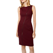 Buy Karen Millen Zip Front Pencil Dress, Aubergine Online at johnlewis.com