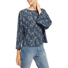 Buy Jaeger Textured Bark Jersey Ponte Top, Multi/Dark Online at johnlewis.com