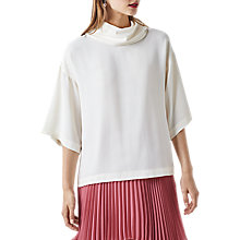 Buy Finery Rhia Cape Roll Neck Top, Ivory Online at johnlewis.com