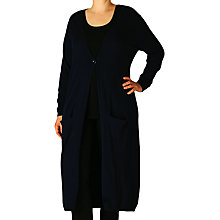Buy ADIA Long Knitted Cardigan, Black Online at johnlewis.com