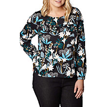 Buy Yumi Curves Lily Snowdrop Print Top, Multi Online at johnlewis.com