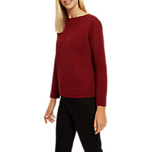 Buy Jaeger Padded Jacquard Jumper, Burgundy Online at johnlewis.com