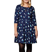 Buy Yumi Curves Abstract Dress, Navy Online at johnlewis.com