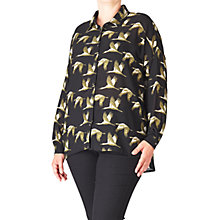 Buy ADIA Bird Printed Shirt, Black Online at johnlewis.com