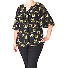 Buy ADIA Bird Print Top, Black/Multi Online at johnlewis.com