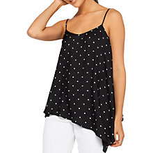 Buy Miss Selfridge Polka Dot Asymmetric Cami, Multi Online at johnlewis.com