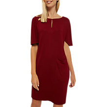 Buy Jaeger Patch Pocket Jersey Dress, Red Online at johnlewis.com