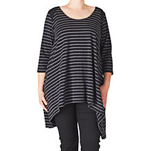Buy ADIA Striped Cotton Tunic Top, Black/Grey Online at johnlewis.com