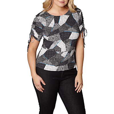 Yumi Curves Mono Pop Rouched Top, Multi
