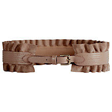 Buy Reiss Leather Wide Ruffle Belt Online at johnlewis.com