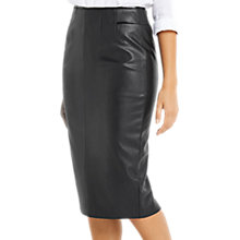 Buy Oasis Faux Leather Pencil Skirt, Black Online at johnlewis.com