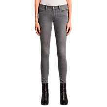 Buy AllSaints Mast Skinny Jeans, Washed Grey Online at johnlewis.com