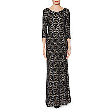 Buy Gina Bacconi Marie Lace Maxi Dress, Gold/Silver Online at johnlewis.com