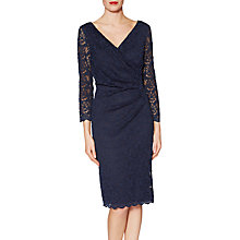 Buy Gina Bacconi Leah Leaf Motif Lace Dress, Navy Online at johnlewis.com