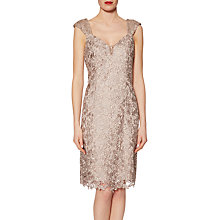Buy Gina Bacconi Miriam Guipure Lace Dress And Scarf, Taupe Online at johnlewis.com