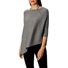Buy Karen Millen Knitted Strappy Poncho, Grey Online at johnlewis.com