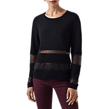 Buy Finery Craster Rippled Stitch Knitted Jumper, Black Online at johnlewis.com