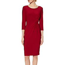 Buy Gina Bacconi Sally Jersey Knot Dress, Rubis Online at johnlewis.com