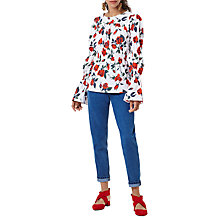 Buy Finery Aske Stem Roses Printed Blouse, Multi Online at johnlewis.com