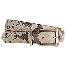 Buy Reiss Sari Leather Jeans Belt, Natural Snake Online at johnlewis.com