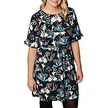 Buy Yumi Curves Snowdrop Ruffle Dress, Black Online at johnlewis.com