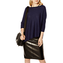 Buy Karen Millen The Essentials Strappy Poncho, Navy Online at johnlewis.com