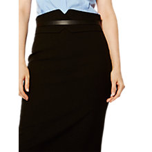 Buy Karen Millen High Waisted Pencil Skirt, Black Online at johnlewis.com