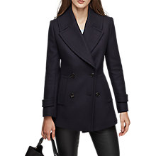 Buy Reiss Malia Double Breasted Wool Blend Pea Coat, Night Navy Online at johnlewis.com