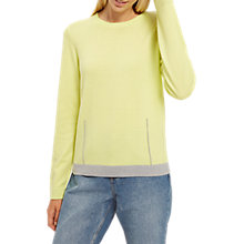 Buy Jaeger Wool Gauge Dart Jumper, Lime Online at johnlewis.com