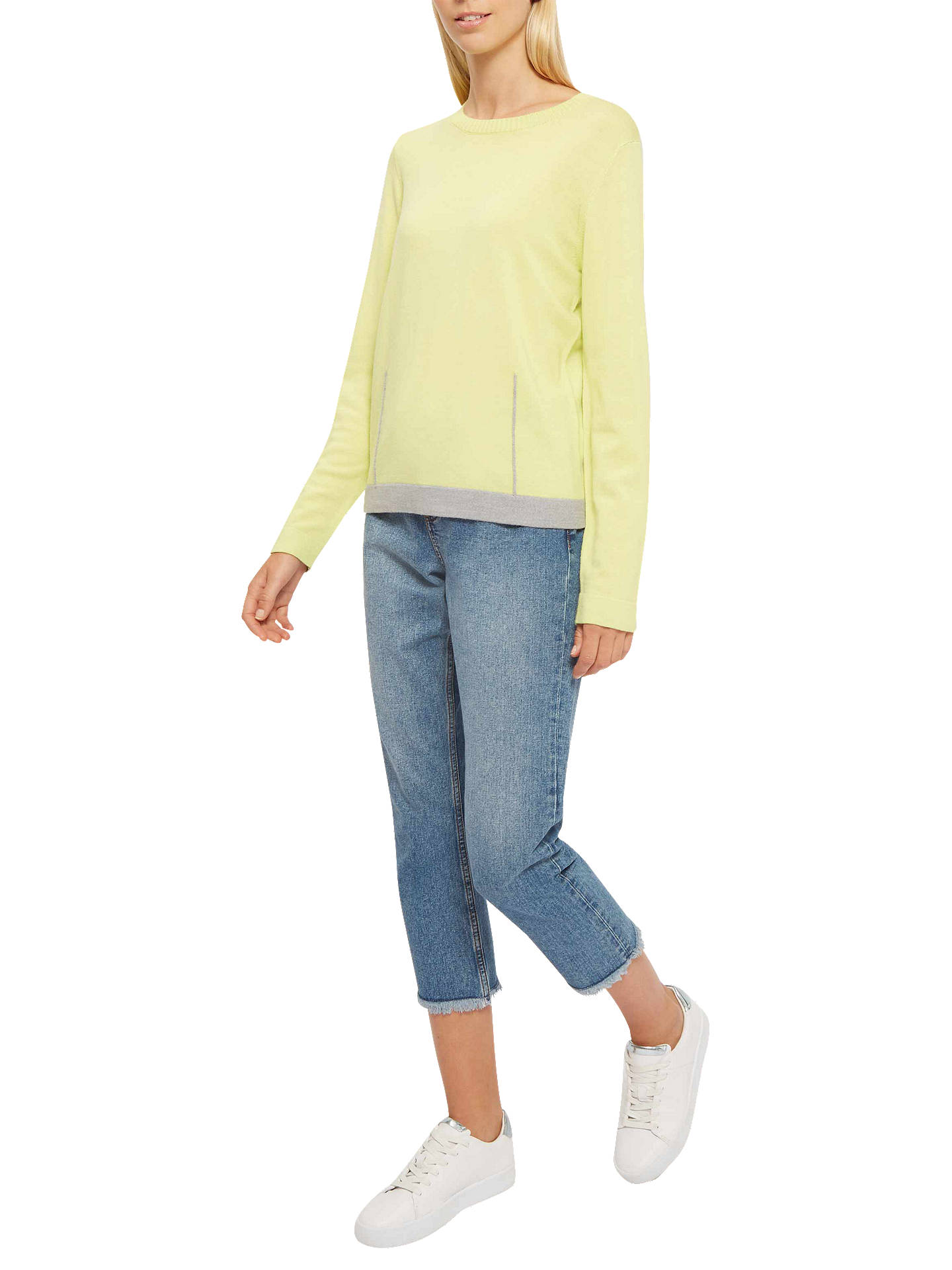 BuyJaeger Wool Gauge Dart Jumper, Lime, XS Online at johnlewis.com
