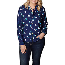 Buy Yumi Curves Abstract Shirt, Navy Online at johnlewis.com