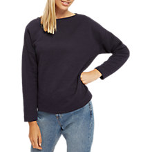 Buy Jaeger Padded Jacquard Jumper, Midnight Online at johnlewis.com
