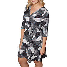 Buy Yumi Mono Pop Wrap Dress, White/Multi Online at johnlewis.com