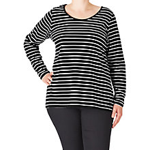Buy ADIA Striped Cotton Jersey Top, Black/White Online at johnlewis.com