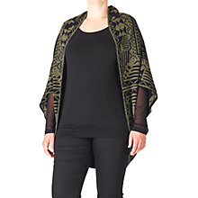 Buy ADIA Jacquard Cape, Olive Online at johnlewis.com