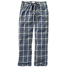 Buy Fat Face Check Classic Pyjama Bottoms, Navy Online at johnlewis.com