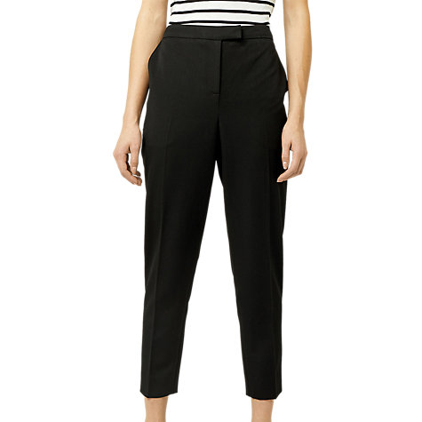 Buy Warehouse Slim Leg Trousers, Black Online at johnlewis.com