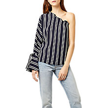 Buy Warehouse Stripe One Shoulder Top Online at johnlewis.com