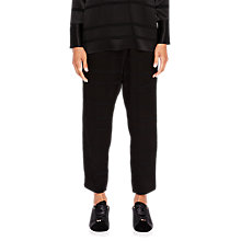 Buy Ted Baker Ted Says Relax Steller Wrap Front Joggers, Black Online at johnlewis.com