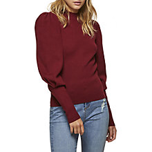 Buy Miss Selfridge Extreme Sleeve Jumper, Burgundy Online at johnlewis.com